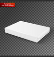 white wrap package for new design vector image vector image