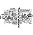 why home school text word cloud concept vector image vector image