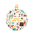 winter holiday symbols flat vector image vector image