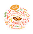 with grilled chicken vector image vector image