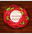 with red hot chili pepper placed in a circle vector image