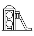 wood kid slide icon outline style vector image