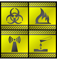 danger industry icons vector image
