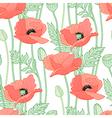 floral poppy white vector image