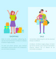 shopping and sale posters vector image