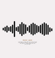 black sound wave vector image