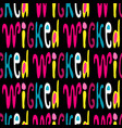 a seamless pattern words in english in the vector image