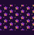 abstract seamless pattern with colorful stars vector image
