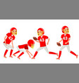 american football male player speed vector image