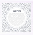 analytics concept with thin line icons vector image vector image