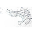 bald eagle flying swoop from lines and particle vector image vector image