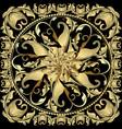 baroque gold 3d mandala pattern vintage vector image