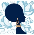 Beautiful elegant woman silhouette vector image vector image