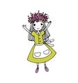 Beautiful little girl in a wreath vector image vector image