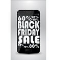 Black Friday Smartphone vector image vector image