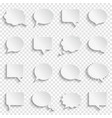 blank empty white speech bubbles on transparent vector image