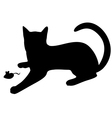 cat mouse vector image vector image
