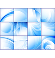 collection of blue abstract backgrounds vector image vector image