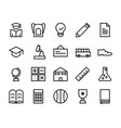 collection of school icon pack vector image