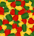 Coloured sweet pepper pattern Seamless background vector image vector image