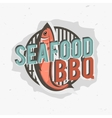 Creative logo design with grilled fish vector image vector image