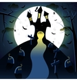 Dark castle witn moon vector image vector image