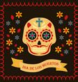 day dead card dia de los muertos vector image