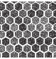 Dotwork Hexagon Pattern halftone Hexagon vector image