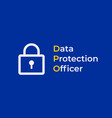 dpo - data protection officer eu flag with with vector image vector image