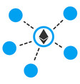 ethereum network links flat icon vector image vector image