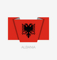 flag of albania flag of flat icon waving flag vector image