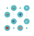 flat icons van toolkit mitten and other vector image vector image