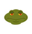 frog sad emoji toad avatar sorrowful amphibious vector image
