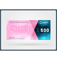 Gift voucher design template Discount card Gift vector image