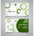 Green and gray modern business card template vector image