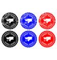 guinea-bissau rubber stamp vector image vector image