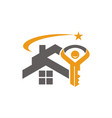 home and key success vector image
