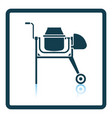icon of concrete mixer vector image vector image