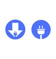 icons for charging point for mobile devices vector image