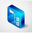 isometric folder tree icon isolated on white vector image vector image