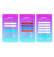 kit of ux screen on glass background register or vector image vector image