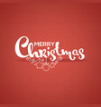 merry christmas lettering greeting composition on vector image vector image