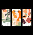 minimal covers design colorful geometric elements vector image