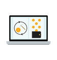 mining laptop screen vector image