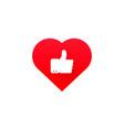 ok good heart health icon vector image vector image