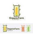 organic farm market logo design vector image