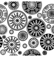 Oriental black and white pattern vector image vector image