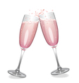 Pink Champagne vector image vector image