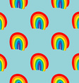 Rainbow seamless pattern hand drawn vector image vector image