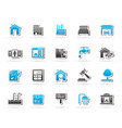 real estate services icons vector image vector image